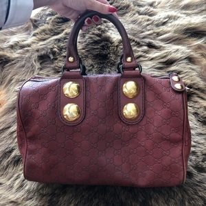 GUCCI Authentic GG Guccissima Leather Boston Bag